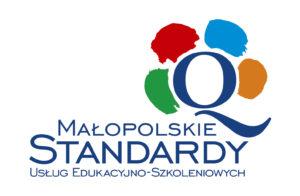 Znak jakości małopolskich standardów usług edukacyjno-szkoleniowych.